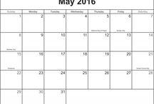 May 2016 Printable Calendar / Free May 2016 Printable Blank Calendar Templates