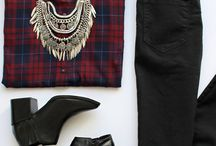 Plaid/black