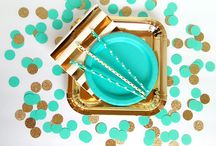gold and teal party