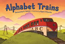 """""""ALPHABET TRAINS"""" / A rhyming, alphabet book about 26 different trains from A to Z! """"Alphabet Trains"""" includes trains from around the US and the world, and includes back matter with description about each of the featured trains. (August 4, 2015)"""