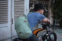 Duffle Bag Gym bag / Old school Duffle Bag. Ideal bag for that Sunday cruise. Suits the caferacer style motor bike. Special waterproof compartment gym gear / beach gear. Made from stone washed canvas. Available at www.ArcaApparel.com Instagram @ArcaApparel