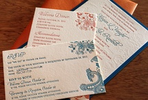 Wedding Invitations / Stationary / South Asian / Indian Wedding Invitations are full of rich hues of red, orange, green, peacock blue etc. Indian Weddings kick off the with designing of ornate, rich, patterned and detailed wedding invitations.