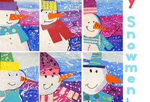 sneeuwman tekenen