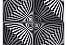 dessin d'illusions NB / Illusions optiques
