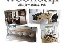 Woonstijl - Houten tafels / Een leuke houten tafel gezien? Laat een reactie achter op de onderstaande link en pin mee! Wil je meer weten over houten tafels? Ga dan www.woonstijl.nl  http://www.pinterest.com/pin/14777505001128647/