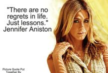 The Love Quotes Celebrity Quotes : Jennifer Aniston Quote Everything in life can teach us something. #Friends Check…