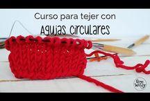 tejido con aguja circular