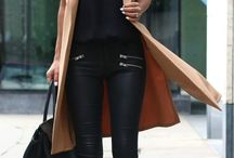 outfit w. leather pants