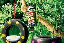Recicla pneus - brinquedos e decoração
