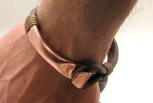 férfi bőr karkötők