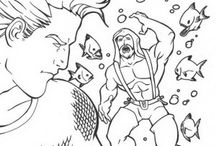 Aquaman coloring book / Aquaman coloring pages