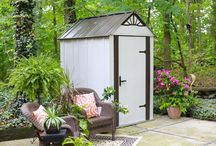 Arrow® Designer™ Series Metro™ Shed, 4' x 6' / The 4' x 6' Metro Shed is a great looking steel storage shed that is a perfect size for any garden, patio, deck or outdoor space.  Also available in 4' x 4' and 4' x 2' sizes.