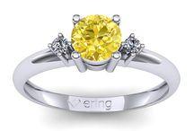Inele de logodna cu safir galben