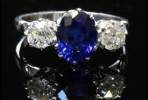 Antique Sapphire Rings / All gem quality corundum that is not red is called sapphire, yet this name is popularly associated with the colour blue. Variation in colour, due to iron and titanium impurities, spans many shades, but the most valuable is a deep blue.
