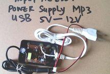 rakitan Adaptor 220V to 6V-12V for USB player