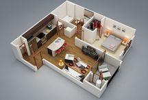1 BEDROOM HSE PLAN