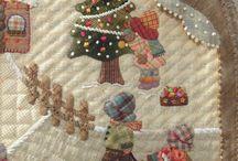Con telas Japonesas ... / Quilt con miniaturas