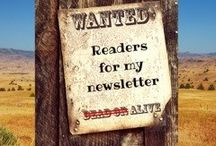 Join my Newsletter and keep up with my latest book news.