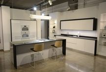 Küche schwarz-weiß Design