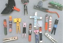 Crafts -Clothes pins / by Rosa Howington