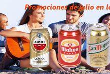 Julio 2015 Promociones / Este mes promociones en las cervezas, licores y refrescos con gas.