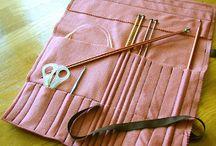 knitting needle case pattern / sewn