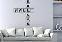 Scrabble Love Tile Wall Stickers / by Kate Elizabeth