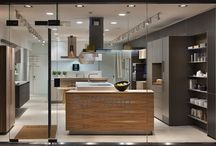 Kitchen Architecture's bulthaup showroom in Oxford / Kitchen Architecture's bulthaup showroom in Summertown Oxford displays a range of luxury, high-end bulthaup kitchens. Showcasing bulthaup kitchen islands and other bultaup kitchen storage options; breakfast bars; intergrated gaggenau, miele, and siemens appliances, including wine fridges.