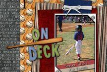 Sports Scrapbook Layouts / by Michelle Ferguson