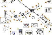 Jeep CJ5 Parts Diagrams / by Morris4x4Center.com