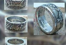 Ringe aus historischen, deutschen Münzen / Hier gibt es, in liebevoller Handarbeit gefertigte Ringe, aus alten und historischen deutschen Münzen.