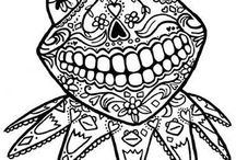 Adult Coloring Pages, Line Drawings / by Beverly Wolf