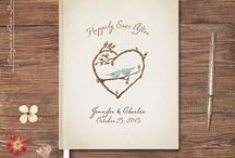 Wedding Guestbooks / This is about the newlyweds getting a souvenir from the wedding guests: a note, a message, or anything that will be remembered. This is about our favorite guestbook.