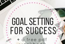 Goal setting tips to succeed / Goal setting, How to reach your goals. How to set goals. Goal Planner.