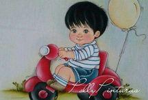 pintura de bebe