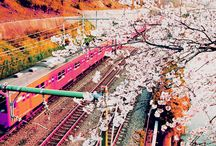 Japan trains / Treinen en stations in Japan. / by Henk Huisman