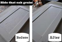 Kitchen update / DIY yucky wooden kitchen