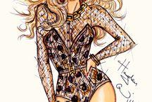 Hayden William fashion drawings