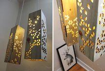 Светильники из дерева