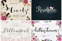 Tipos de letra tarjeta de boda