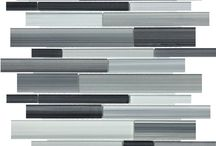 Bliss Fusion Glass Mosaics / Linear pattern all glass mosaic from Anatolia Tile