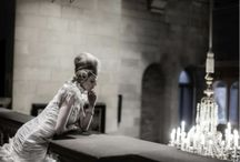 Ian Stuart photoshoot with Belle Bridal at Bowes Museum