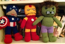 Superhero knitting