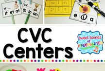 CVC Words / Activities for CVC words in kindergarten! Including worksheets, match, games, centers, practice, blending, cards, freebie, reading, fluency, books, puzzles, printables, bingo, flashcards, sentences, intervention, phonics, and more.