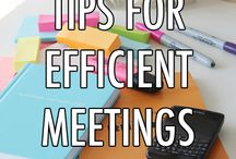 Tips for efficient meetings