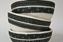 pottery: black and white finishes