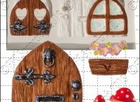 fairy doors made from polomer clay