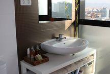 Mueble lavabo pie