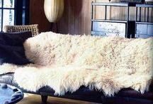 mantas de pelúcia / Decoração com tecidos de pele sintética
