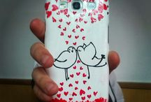 Handmade painted phonecases / All phonecases are painted handmade